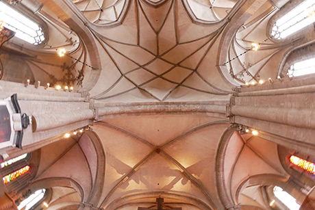 Bachs musik ska upplevas i det mäktiga kyrkorummet. Som här i samklang med domkyrkans valv: Foto: Royne Mercurio